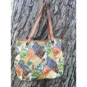Fossil Hathaway tote, multi color, 2 side pockets